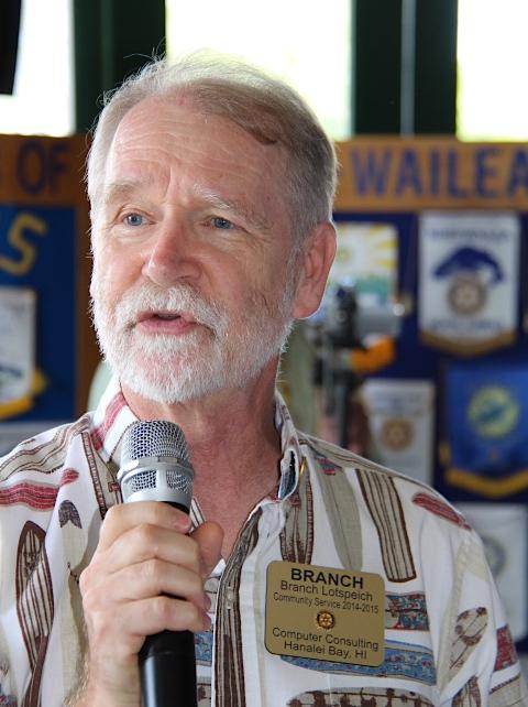 SPEAKER    BRANCH LOTSPEICH |  BIO   RESCUE TUBE FOUNDATION  HAWAIIAN ISLANDS