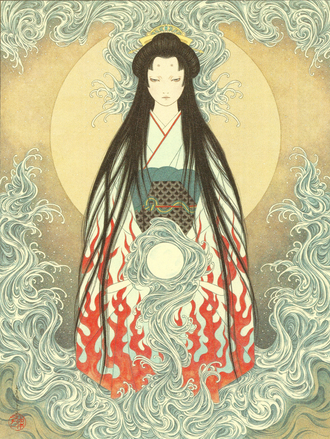 Princess Shirayuki at Yashagaike (Demon Pond) II.jpg