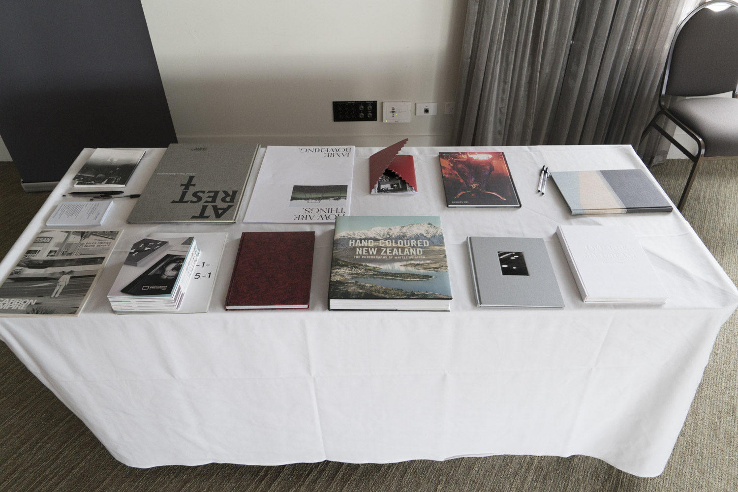 Finalists for the 2017 New Zealand Photobook of the Year Award.