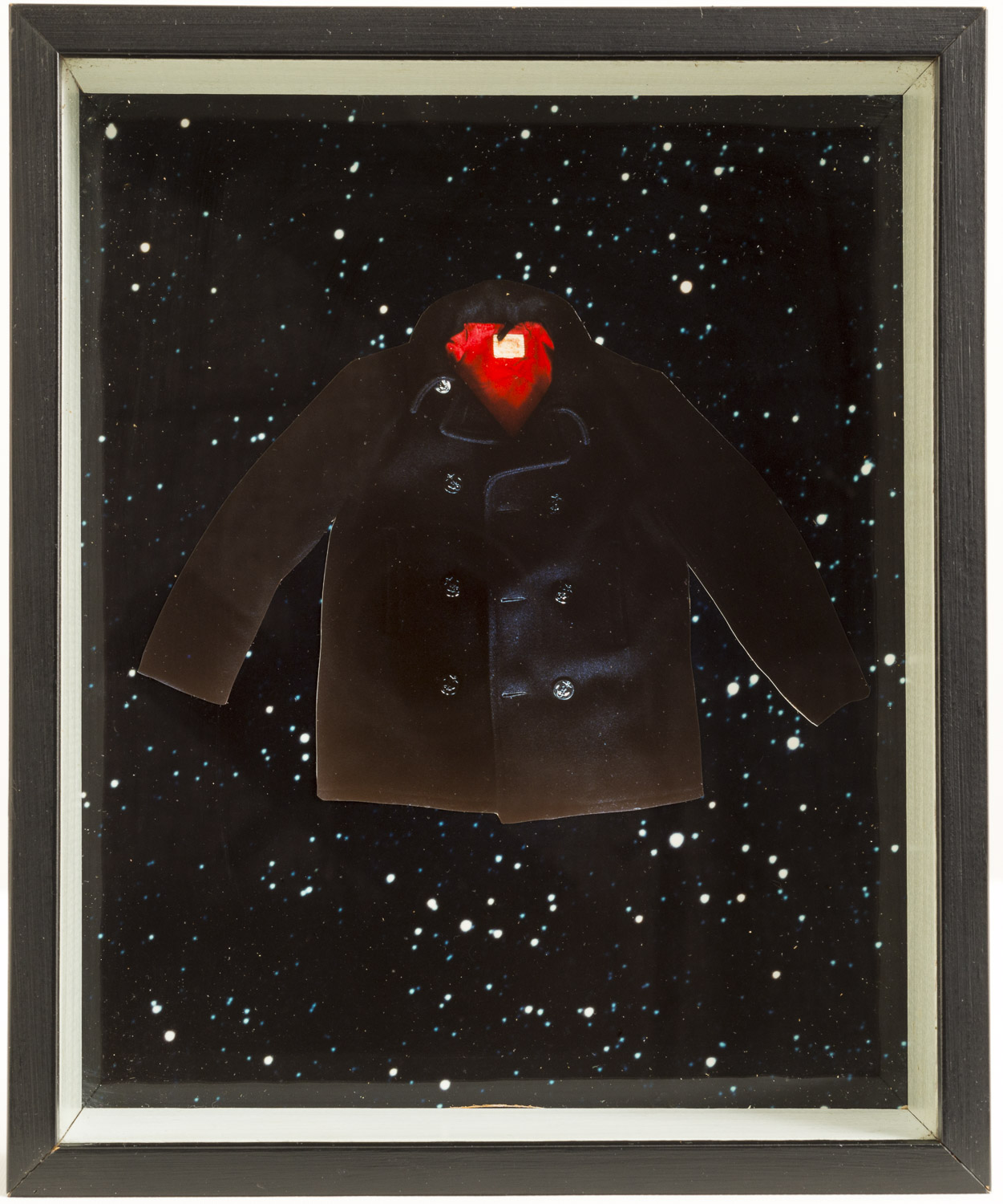 Megan Jenkinson.  Once a Supernova  1982. From  The Coats of Deception  series.  Cibachrome collage