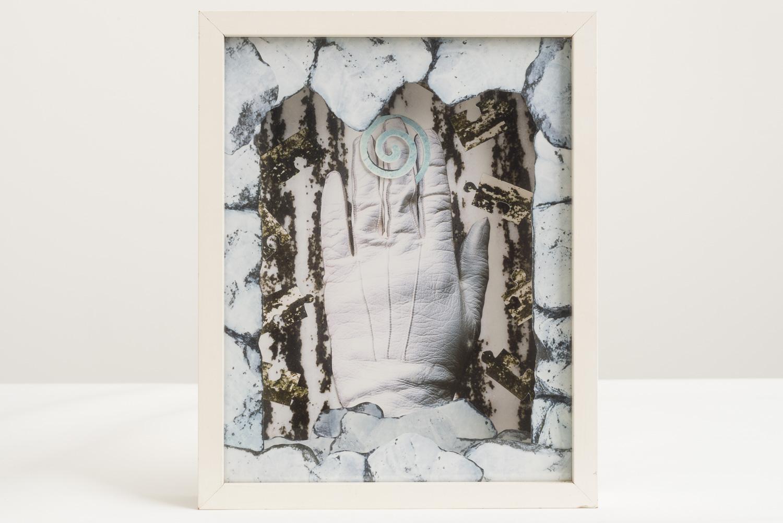 Megan Jenkinson.  Hand to Hand II, 1985. Cibachrome collage.