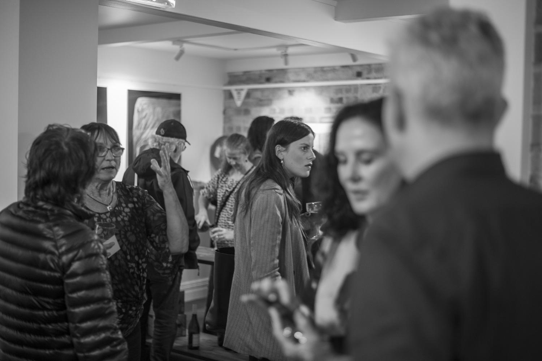 Opening night of the PhotoForum Members' Show, 2018. Photo by Daniel Mayo-Turner