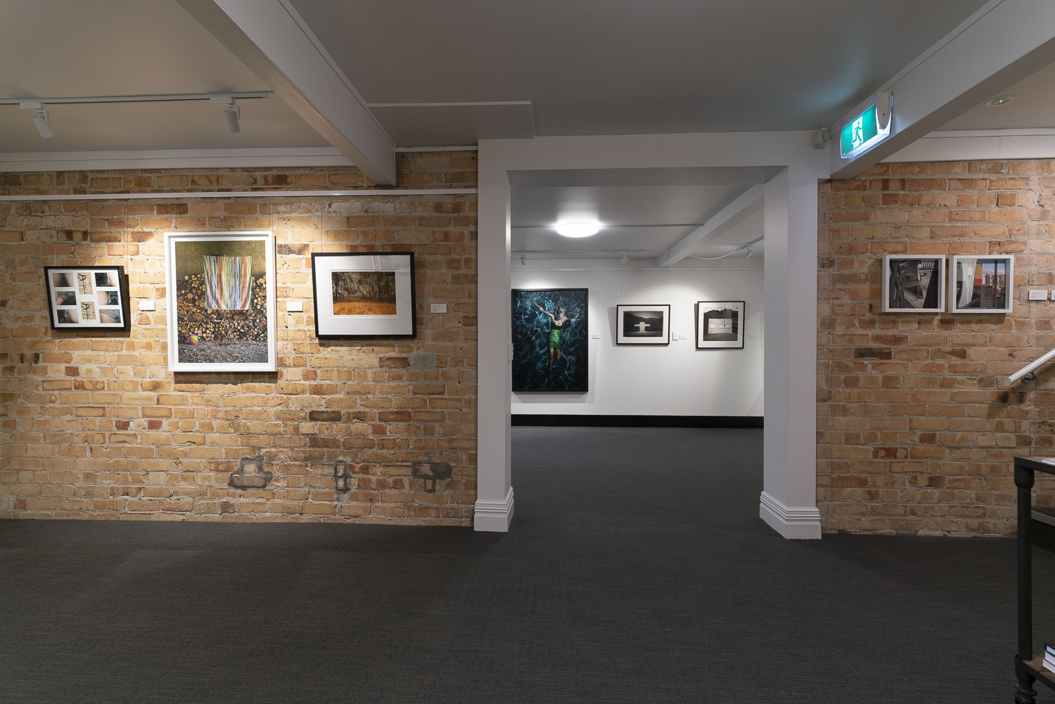 Installation of the PhotoForum Members' Show, 2018 at Studio 541, Auckland. Photo by Geoff Short