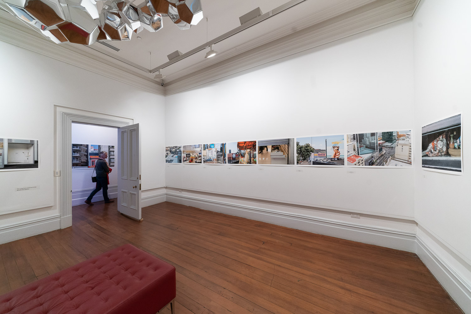 Installation view of the exhibition 'The Long View' at Pah Homestead, 10 June 2018. Photo by Geoff Short