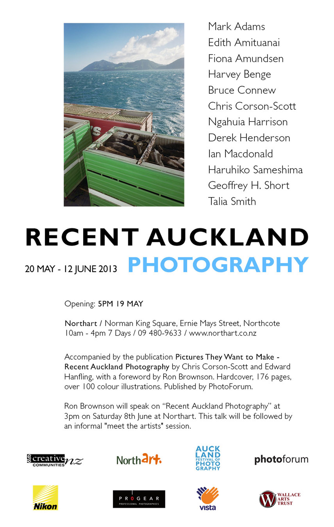 Recent Auckland Photography exhibition May 19–June 12, Northar