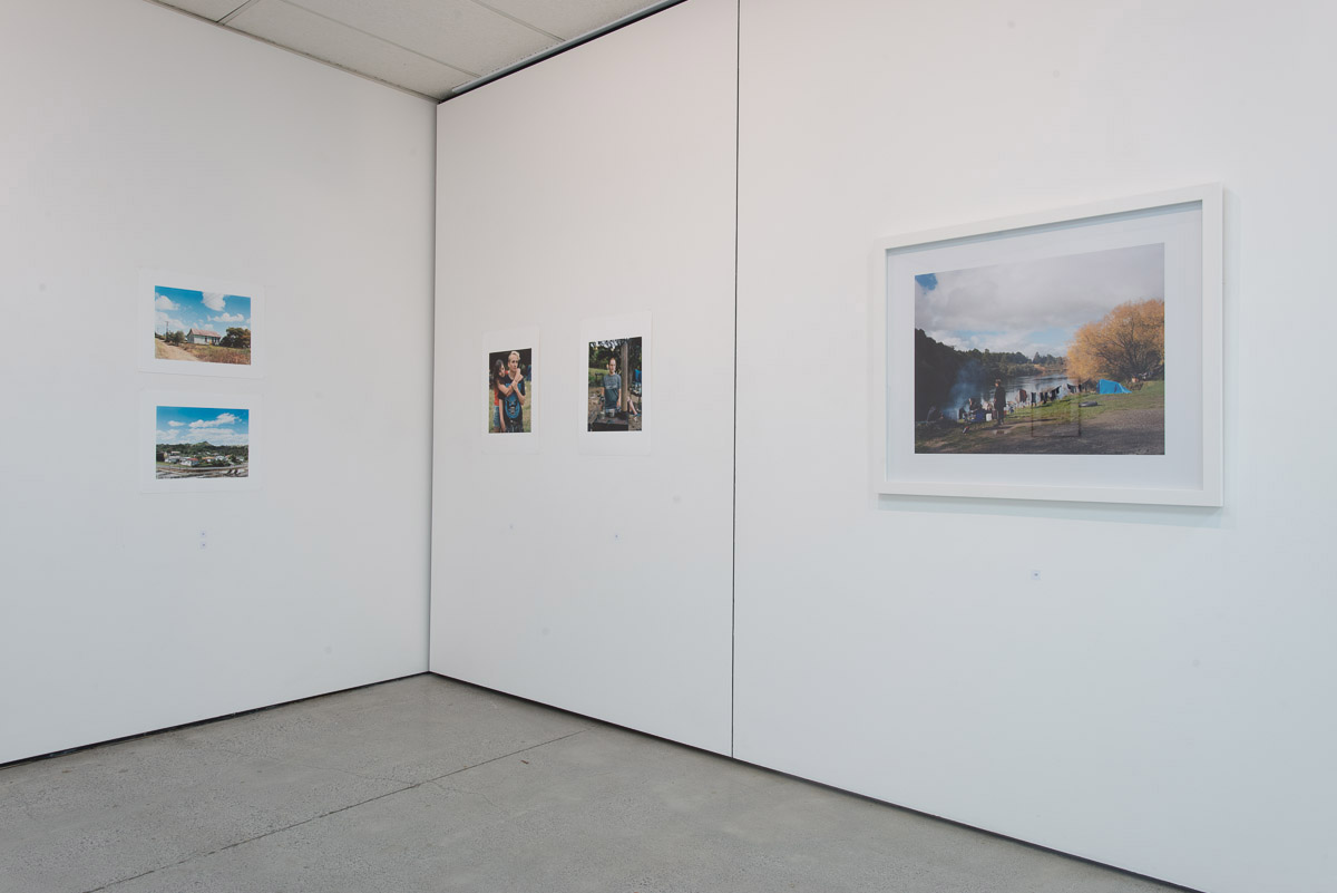 """Installation view of """"Recent Auckland Photography"""" exhibition at"""
