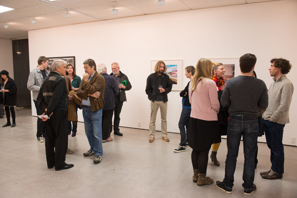 """The opening of the exhibition """"Recent Auckland Photography"""" at Northart Gallery, 19 May, 2013."""