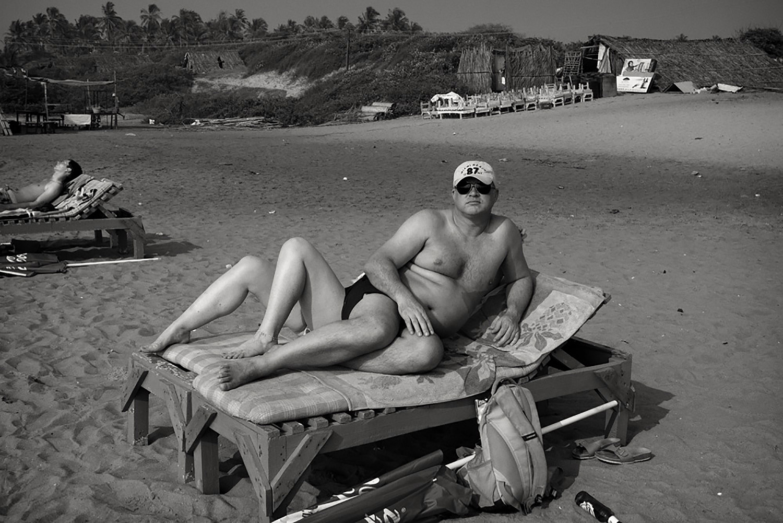 Julian Ward  Man Sun Bathing, Calangute, Goa, India  2012