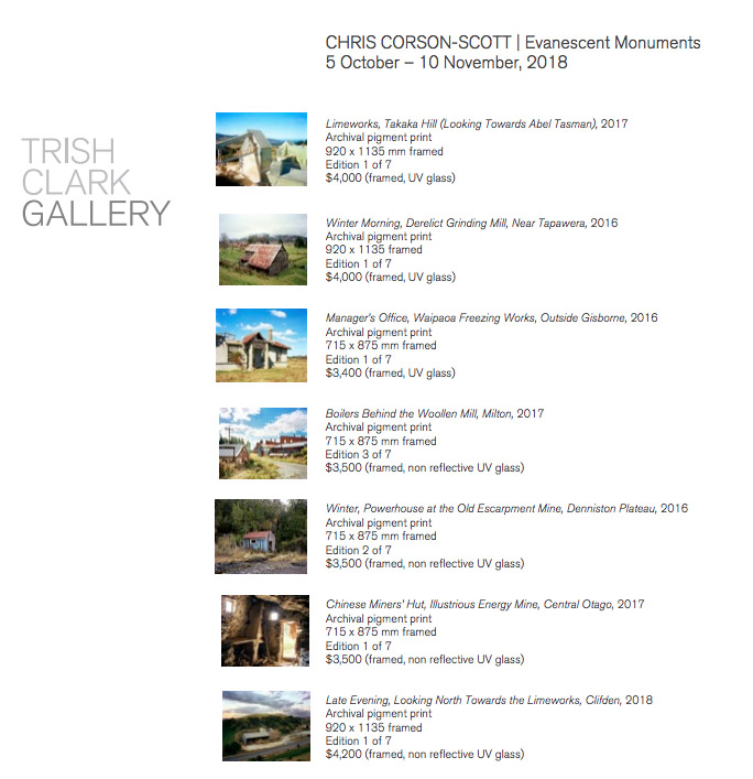 Click on image for a full list of works.