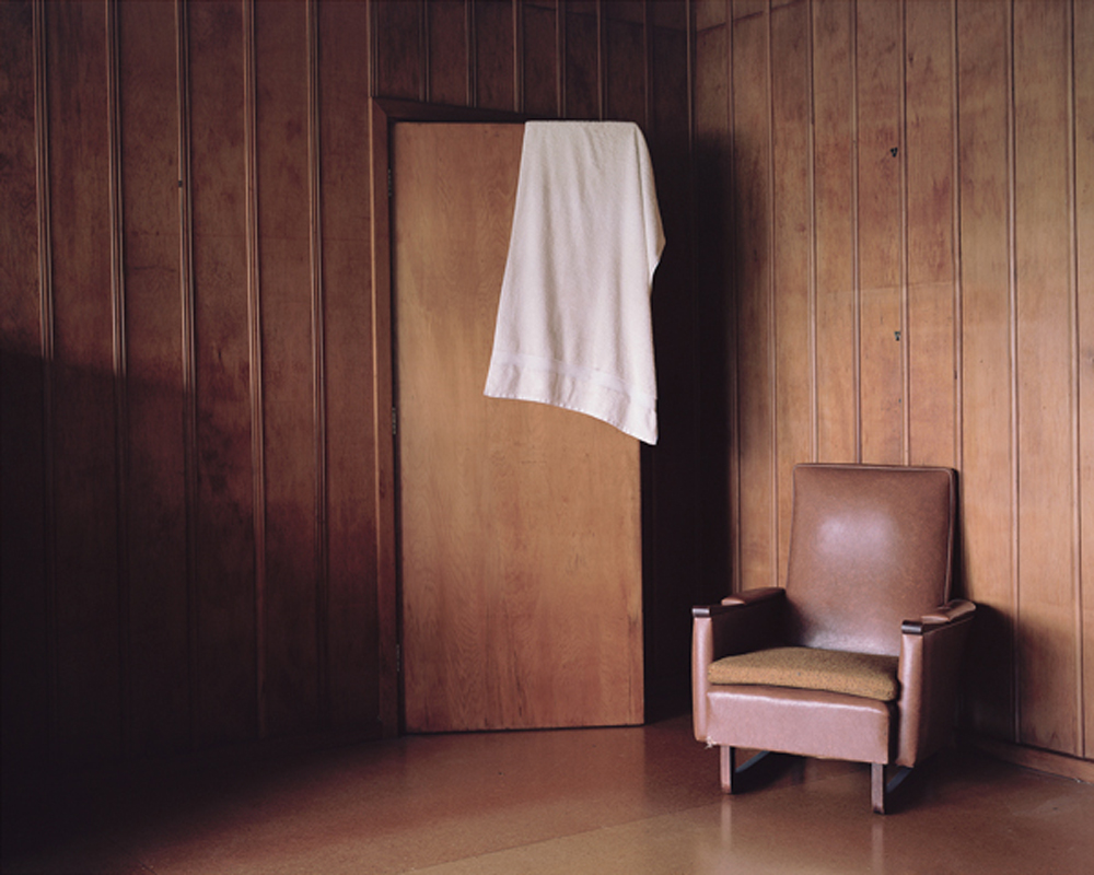 Harry Culy,  Interior with towel, Marlborough Sounds, New Zealand , archival pigment print.