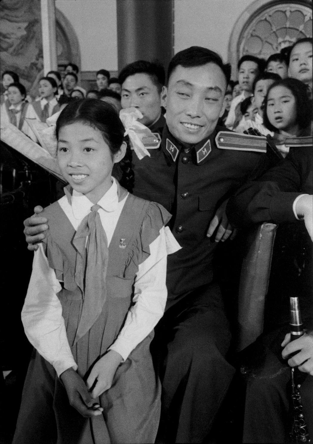 A man and his daughter at the International Children's Day celebration held in the Peking Hotel, Peking. China, 1 June 1956. (RDH C021-30)