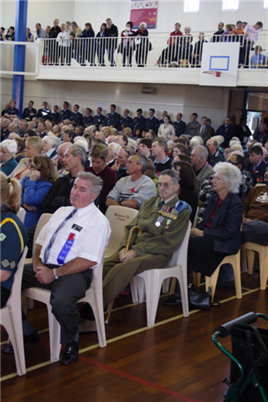 Community Hall, Anzac Day, 25 April 2005.(JBT360)