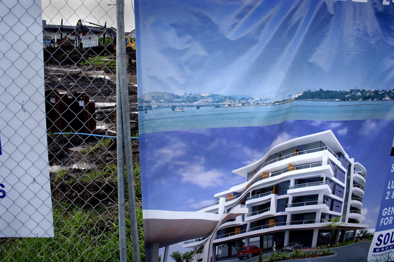 Foundations, BeIla Vista Apartments, corner_Gunner Drive and Te Atatu Road, 14 May 2006. (JBT12001)
