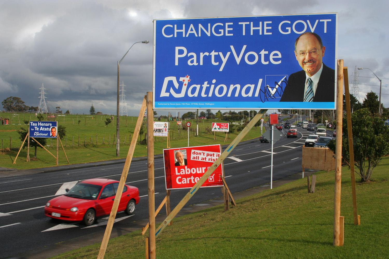 Don Brash's Election Poster, Te Atatu Road, 14 September 2005. (JBT5025)