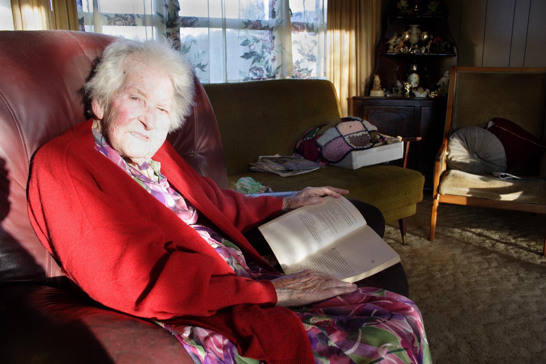 Doris Trundle, 26 Matipo Road, 30 April 2006. (JBT11617)
