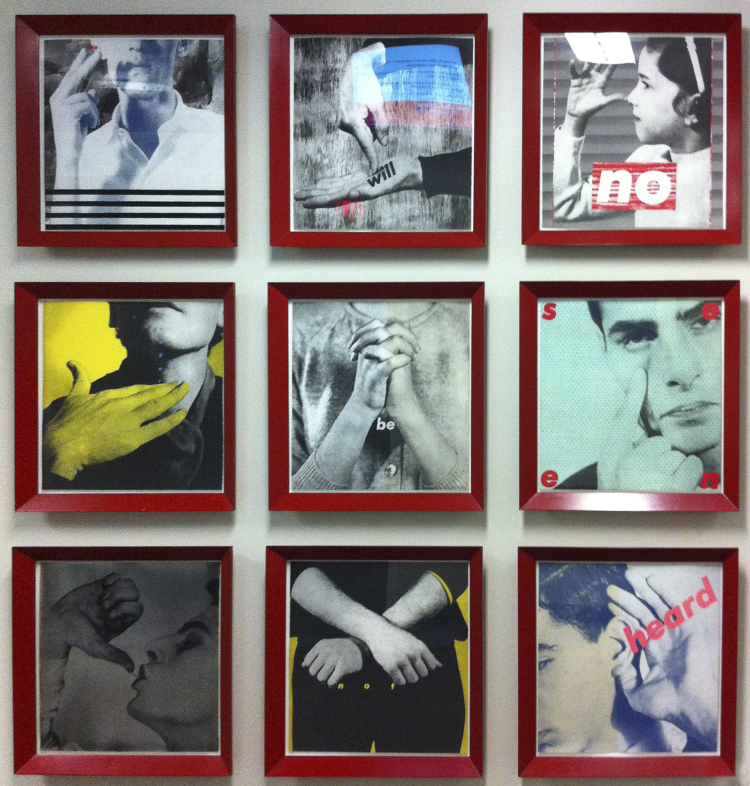 Barbara Kruger,  Untitled (We will no longer be seen and not heard), (1985)