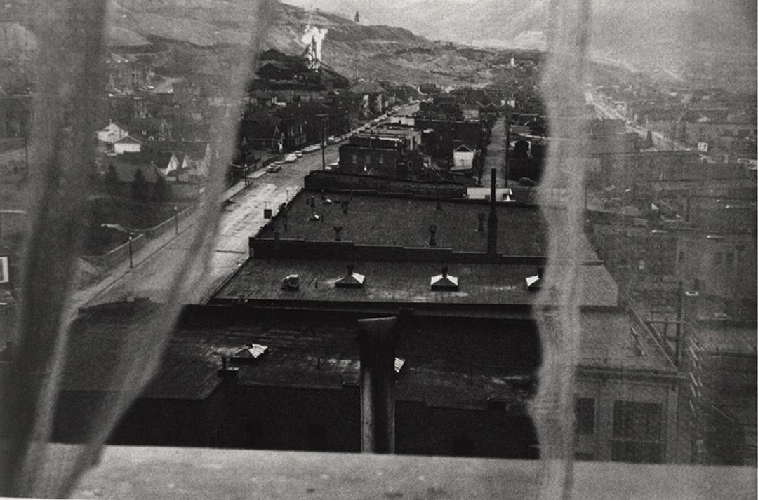 Robert Frank:  View from hotel window - Butte Montana  (1956)