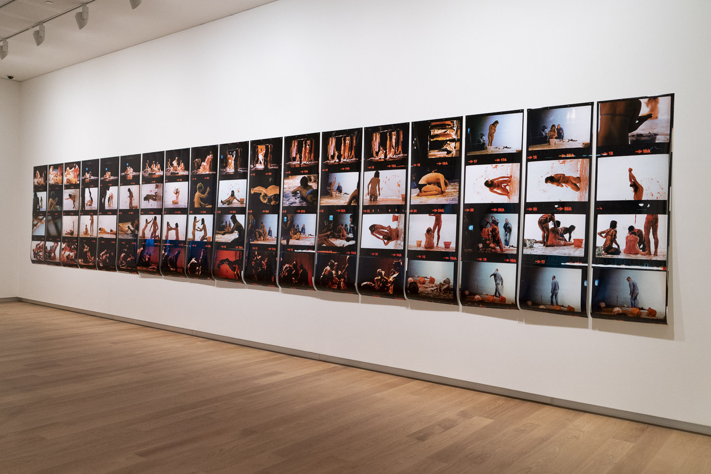 "Ian Macdonald. ""Jim Allen, Contact, Auckland Art Gallery, 1974"". Installation view at ""Groundswell: Avant Garde Auckland 1971-1979""."