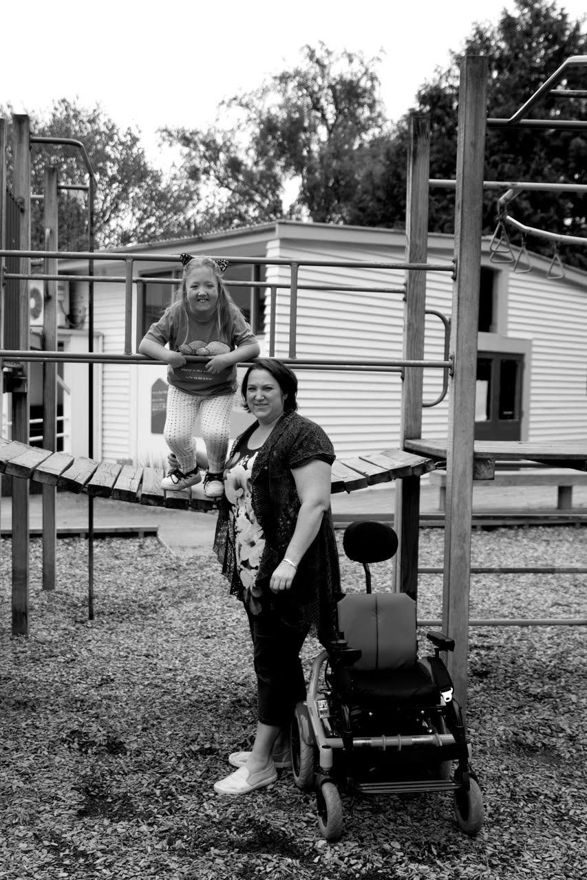 Nikki & Roxy   Self-employed, Primary School Student  October 2017  After being born and raised in the Wairarapa, I moved away at the age of 20. I returned to Masterton at the age of 32 as I was about to give birth to my first and only child and wanted to be closer to family.  Roxy, now 8 and a student at Douglas Park School, was born with a rare physical disability, Escobar Syndrome.  Masterton, to us both, means home and family. We have developed some strong relationships within the community.  Masterton is the perfect place to raise a family and being close to numerous beaches is a bonus.