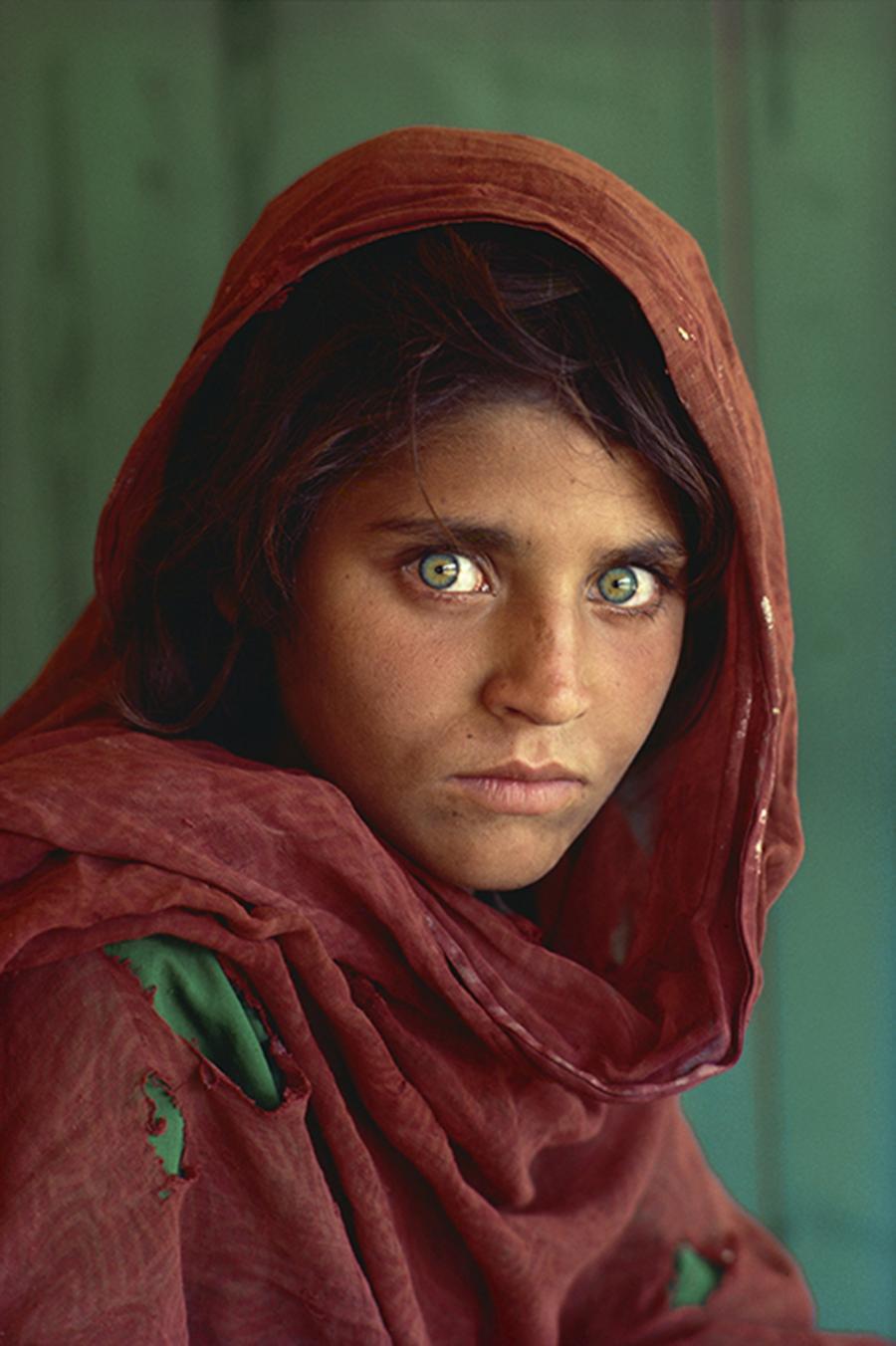 Steve McCurry.  Afghan Girl  1984.
