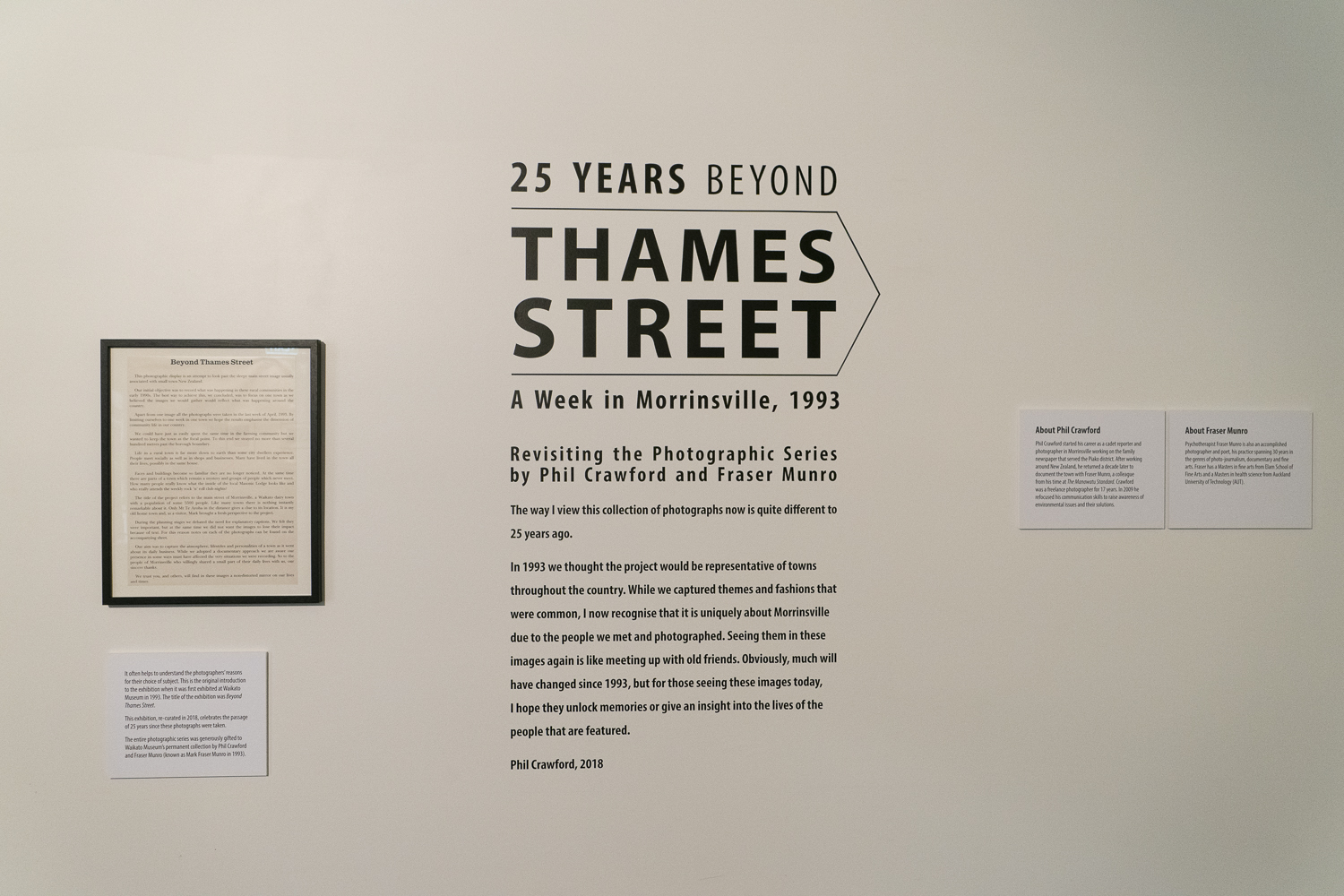 """Installation view of the exhibition """"Beyond Thames Street"""" at Waikato Museum, January 2019"""