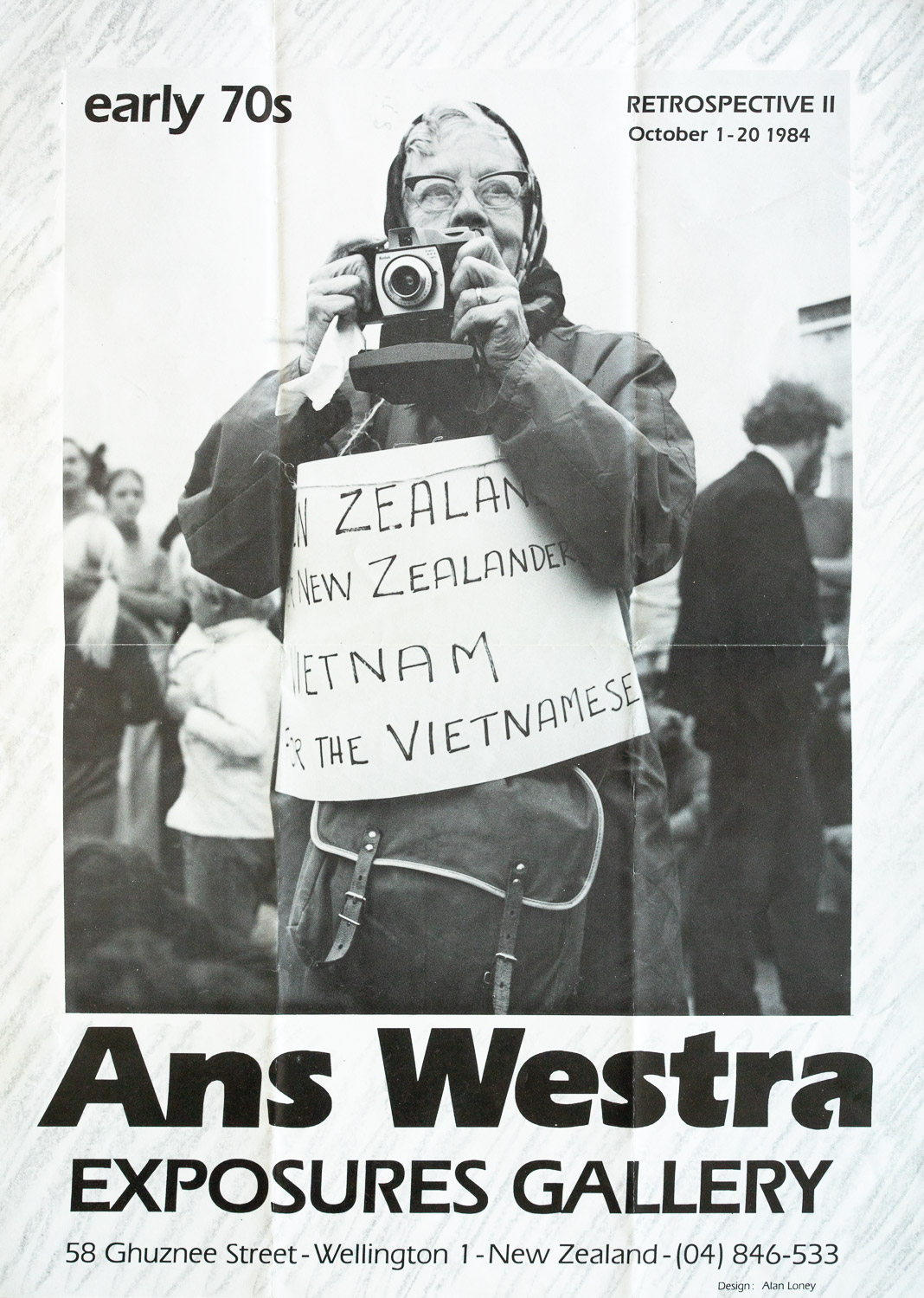 Ans WestraRetrospective II - The Early 70s1 – 20 October, 1984. Design: Alan Loney