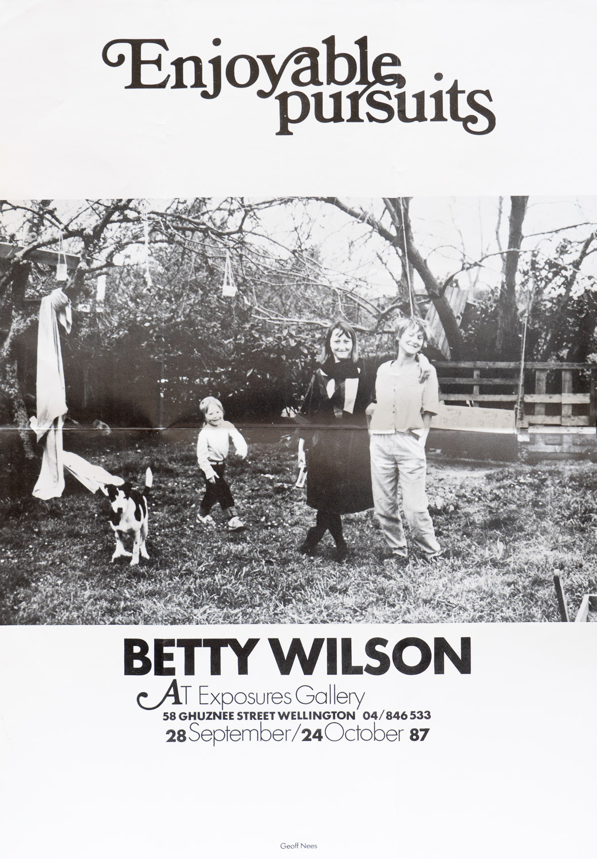 Betty WilsonEnjoyable Pursuits28 September – 24 October 1987