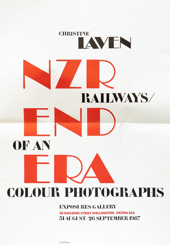 Christine LavenNZR – End of an Era31 August - 26 September 1987