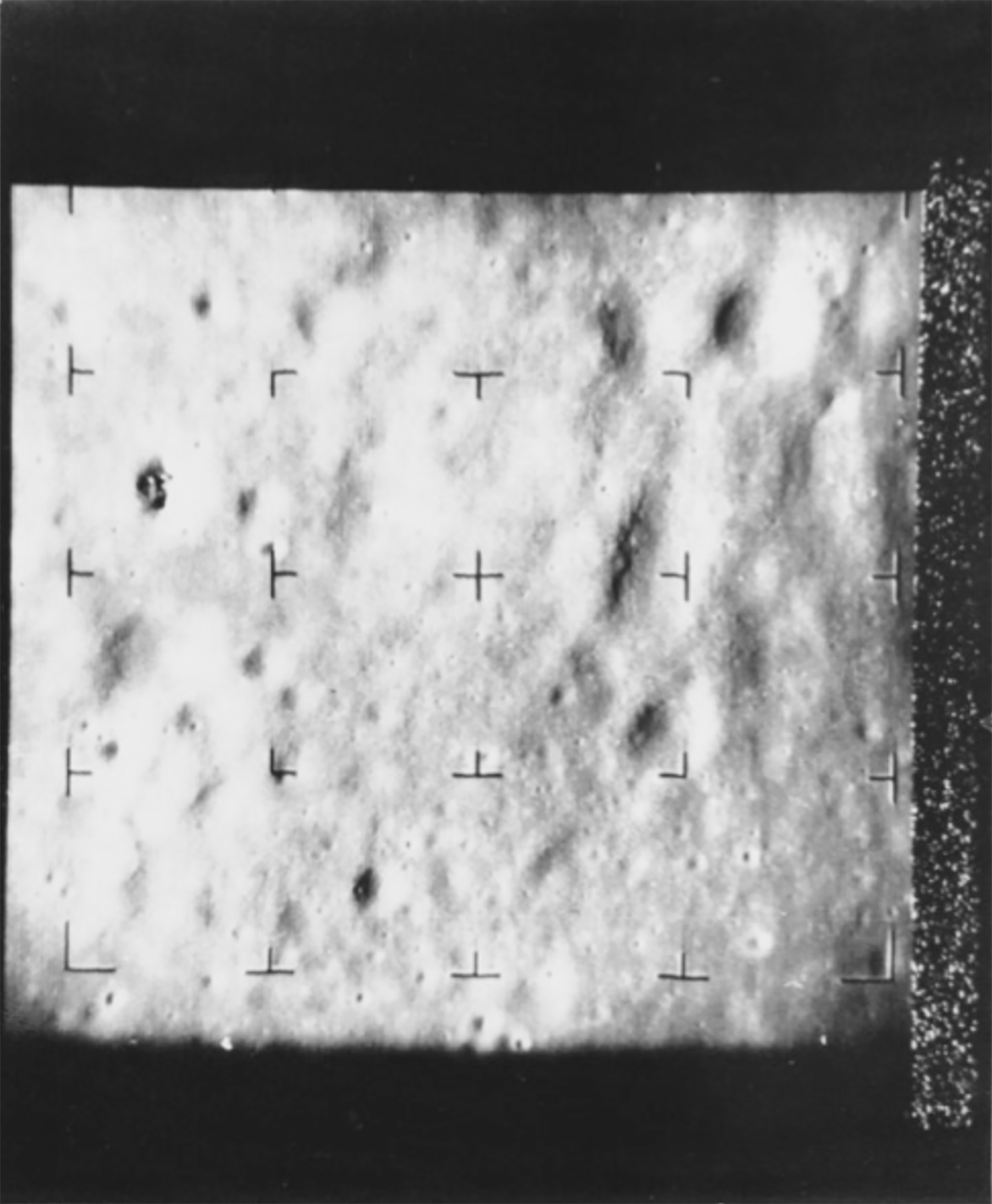 NASA (USA), AP Wirephoto, First Picture of the Moon: This was one of the first pictures of the moon made by Ranger 7 released tonight at Jet Propulsion Laboratory in Pasadena, Calif. Picture shows numerous craters on the surface of the moon which hitherto had not been detected by earth-bound telescopes. 31 July 1964. Collection of Geoffrey Batchen, Wellington.