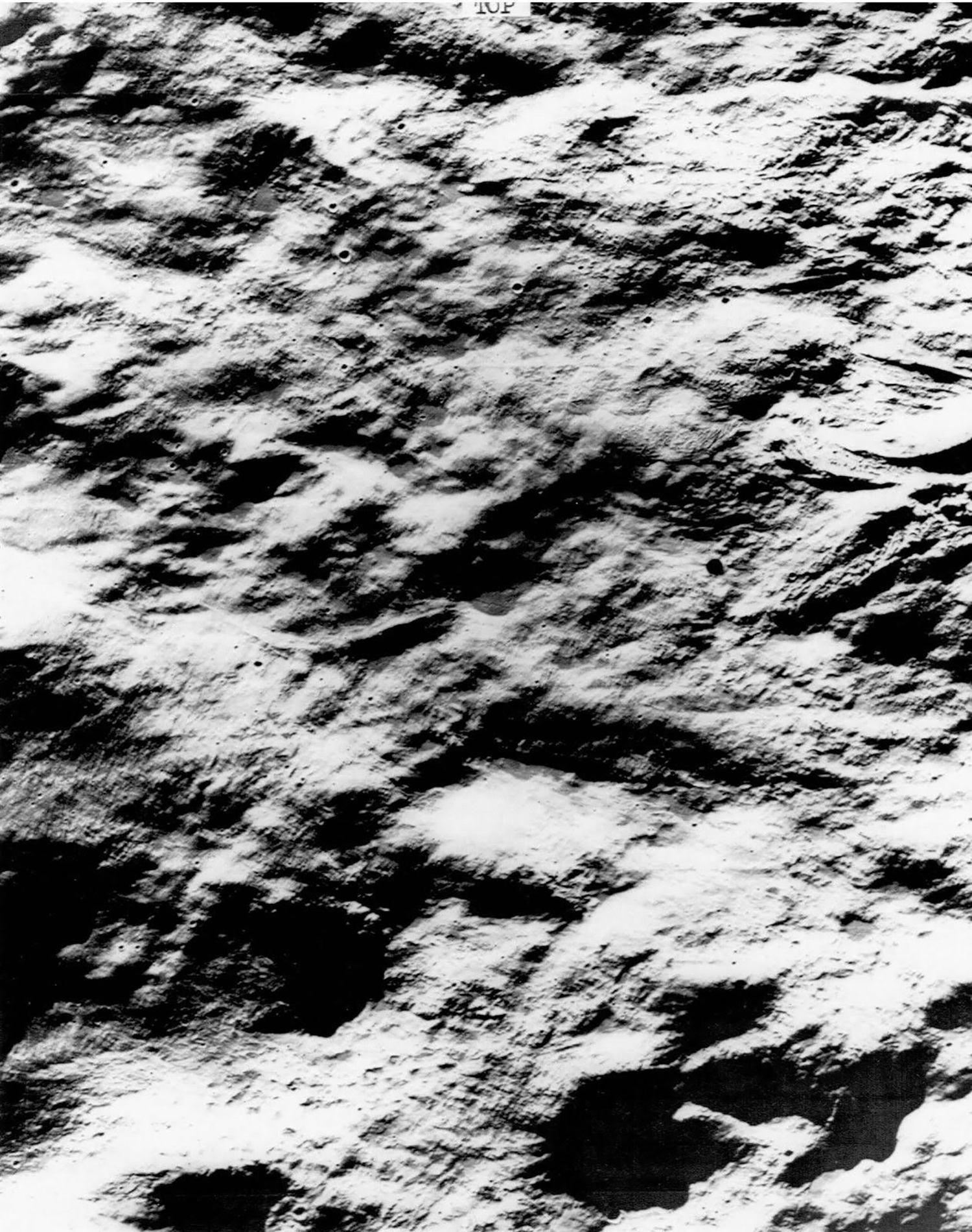 NASA (USA), Associated Wire Press Photo: Target for Surveyor 7: Mountainous area around the crater Tycho, one of the roughest spots on the moon (taken by the Lunar Orbiter V spacecraft). August 1967. Collection of Justine Varga, Sydney.