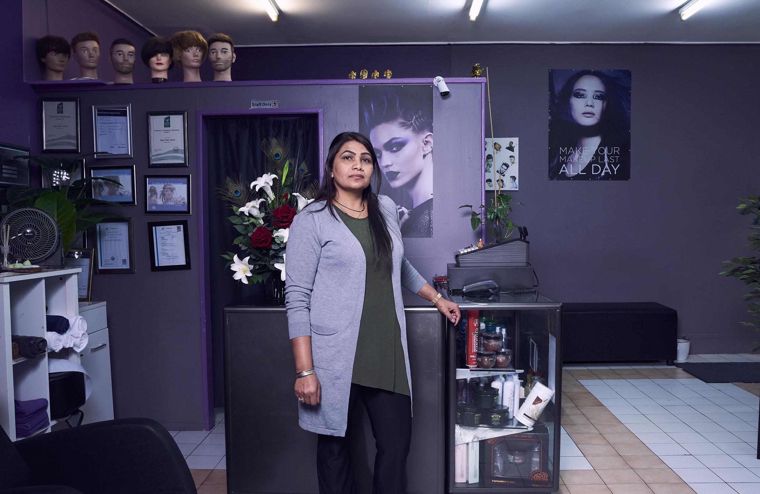 Vinesh Kumaran, Mala Chand, Mala's Hairways Beauty Salon, 2019
