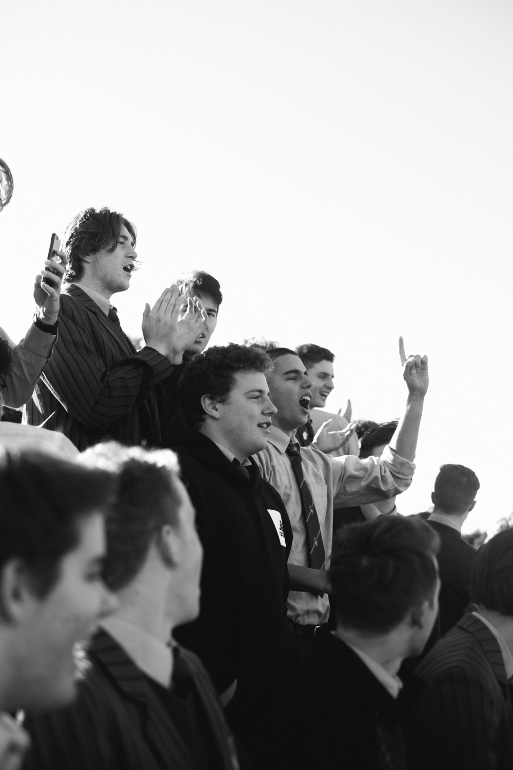 Scots College Supporters Club (SCSC) at rugby match, 2017