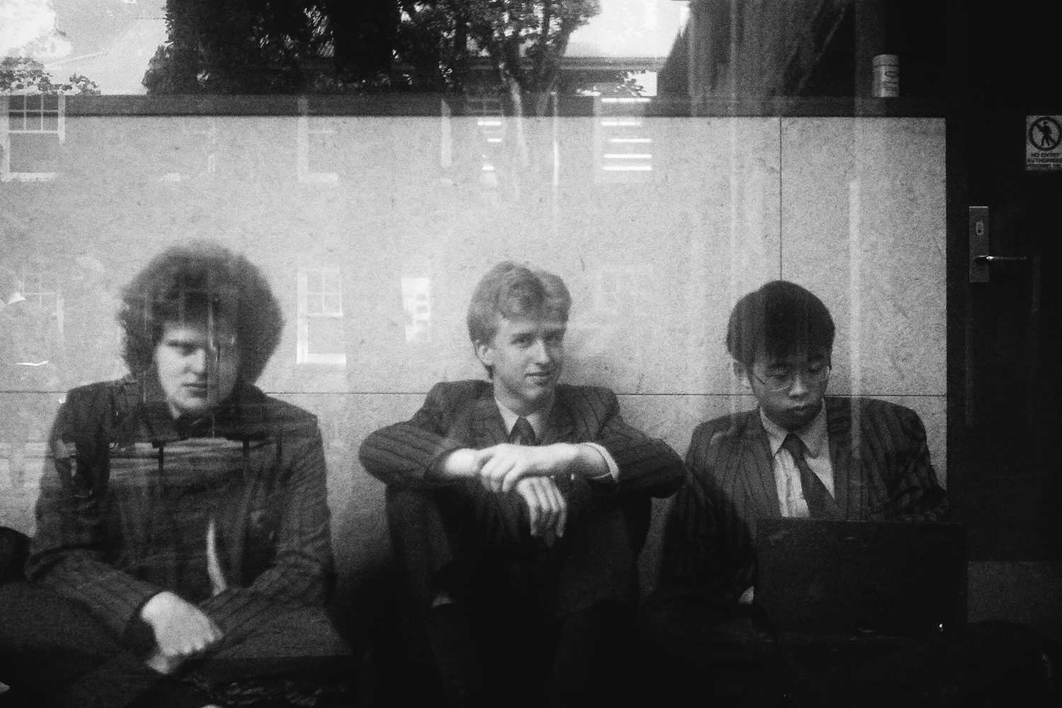 Austin, Adam, Thorben (outside science classrooms at interval), 2017