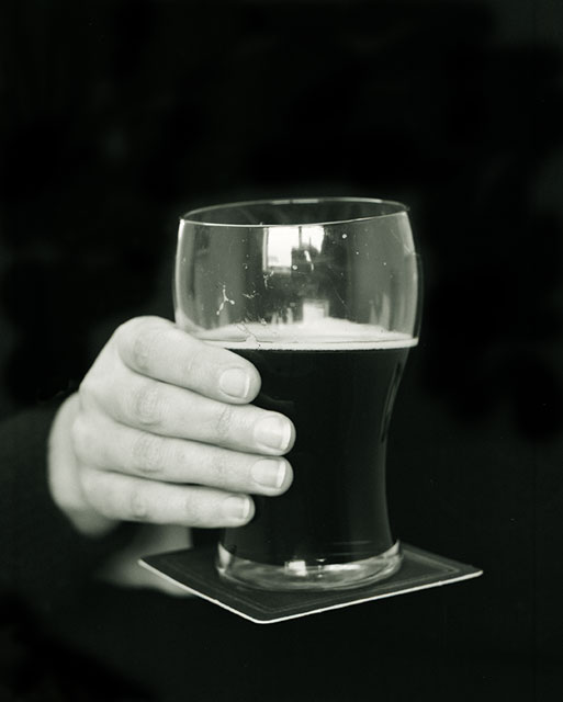 Marie Shannon  Untitled (Guinness Glass) , 1993  silver gelatin print, selenium toned (edition of 12) 500mm x 400mm