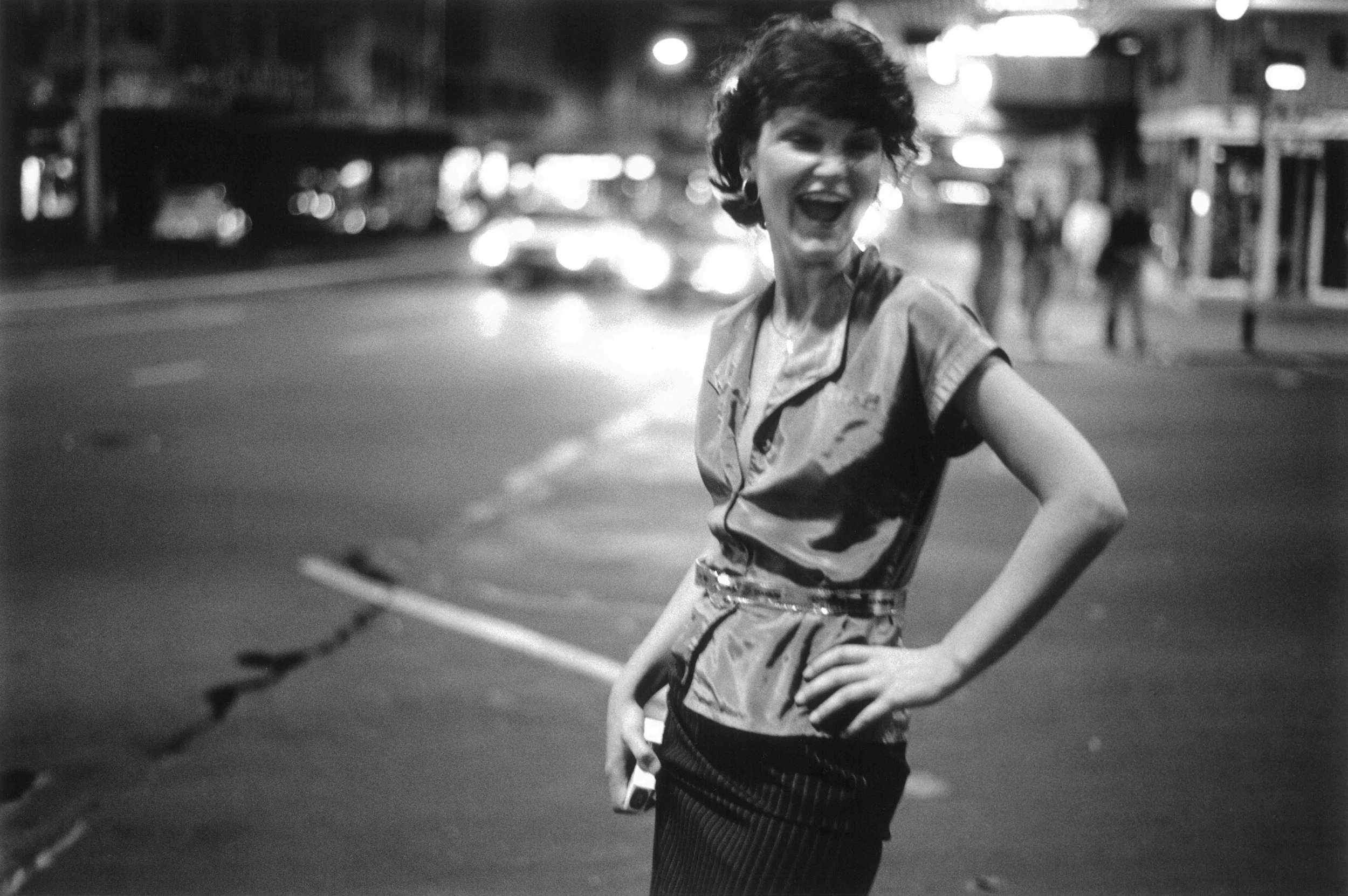 Murray Cammick,  Big Smile, Queen St , 1976