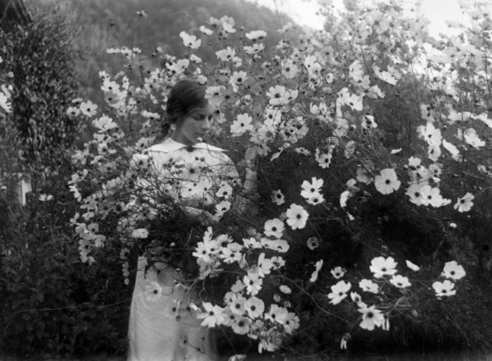 Amy Couper  [1903-1995]    In the Cosmos  circa 1914-1920-Gardiner Collection of Glass Negatives -Copyright Marlborough Museum - Marlborough Historical Society Inc