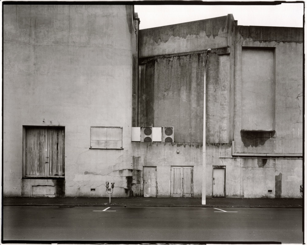 """Andrew Ross   Side view of the Regent Theatre , 29/9/2012 - Gold & selenium toned silver-gelatin contact print from 8""""x10"""" negative."""