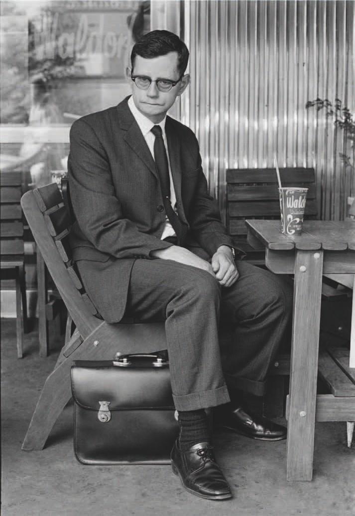 Glenn Busch ,  Man at an Outdoor Café, Auckland , 1973.  Photo-Forum  19 (April/May 1974). p. 27.