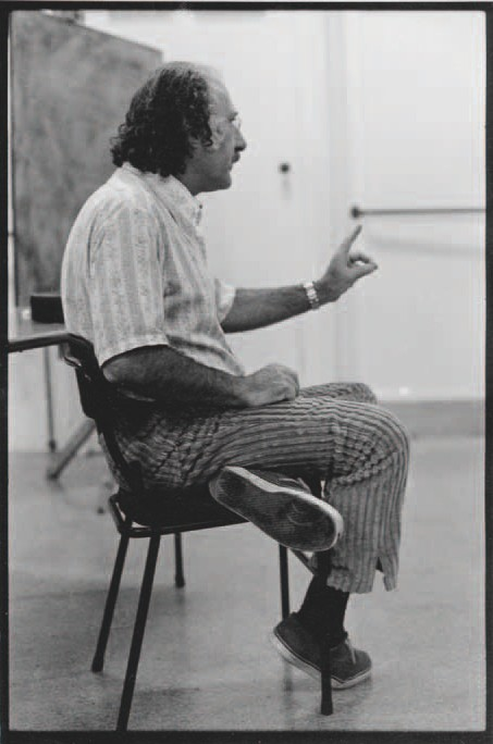 Larence Shustak at PhotoForum/Elam Workshop, c. 1974. Unknown photographer. (Collection John B. Turner).