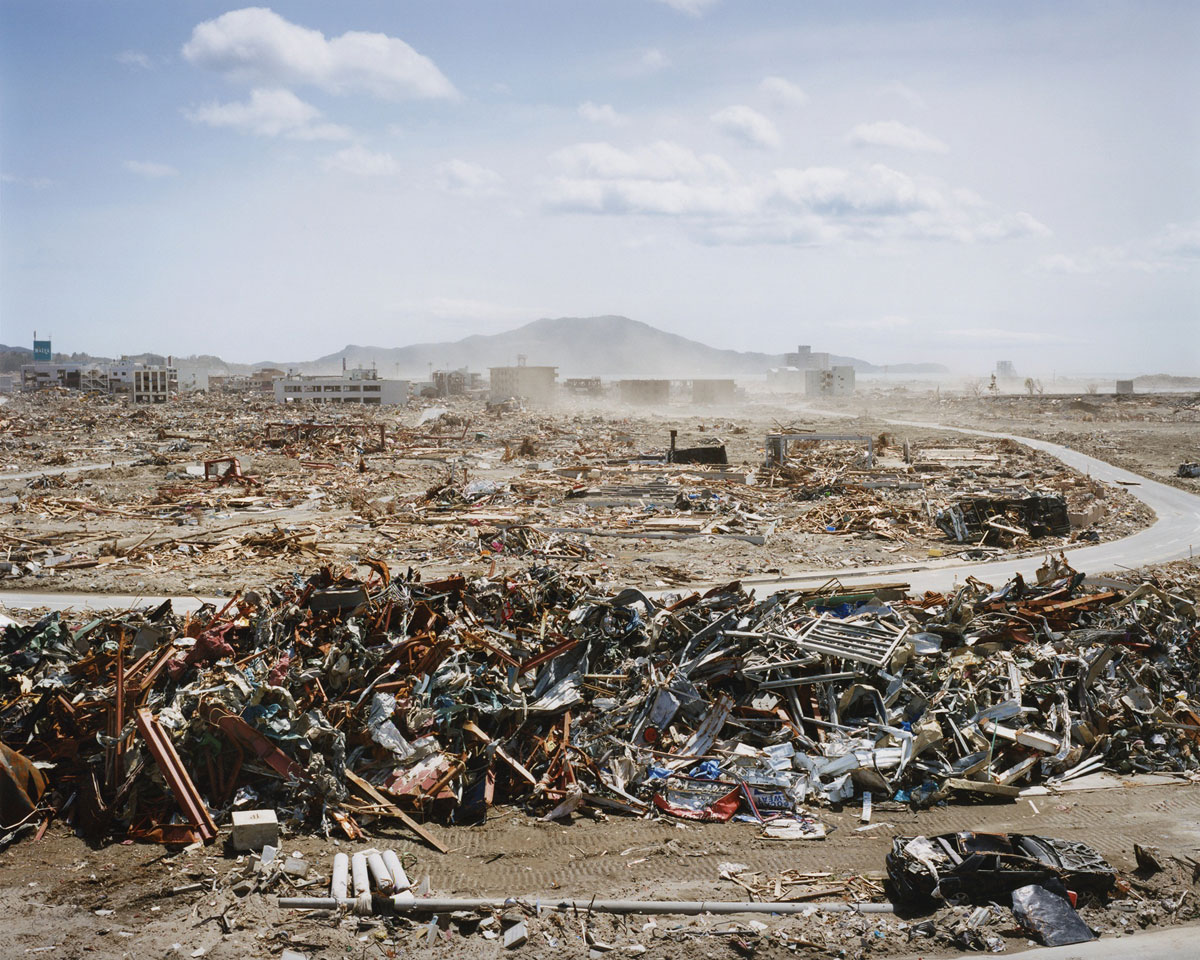 Naoya Hatakeyama   Takatacho-Morinomae  from the series  Rikuzentakata , 2011.05.02. Photo courtesy of the artist and Massey University