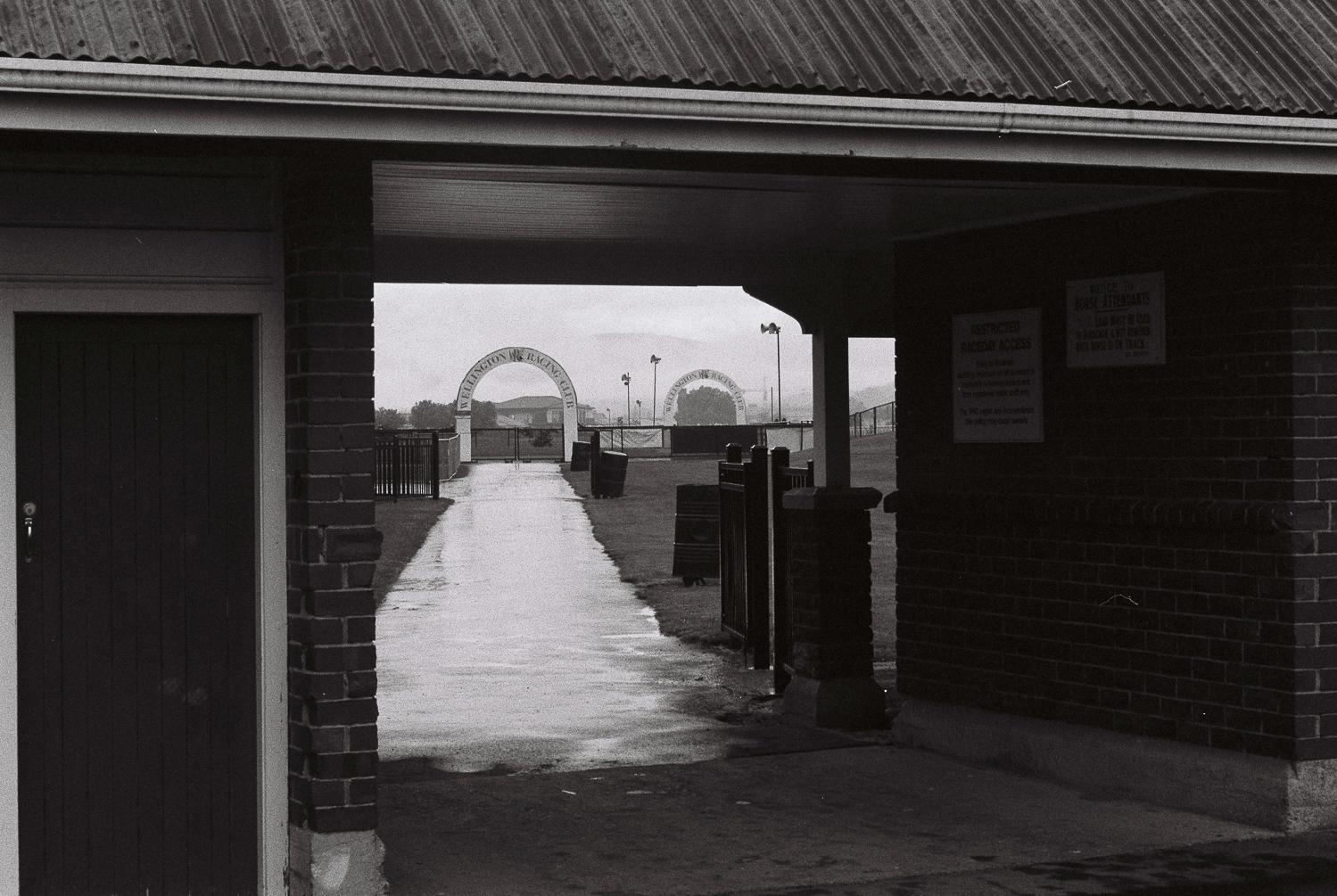 Stabling enclosure, Trentham Racecourse, October 2018