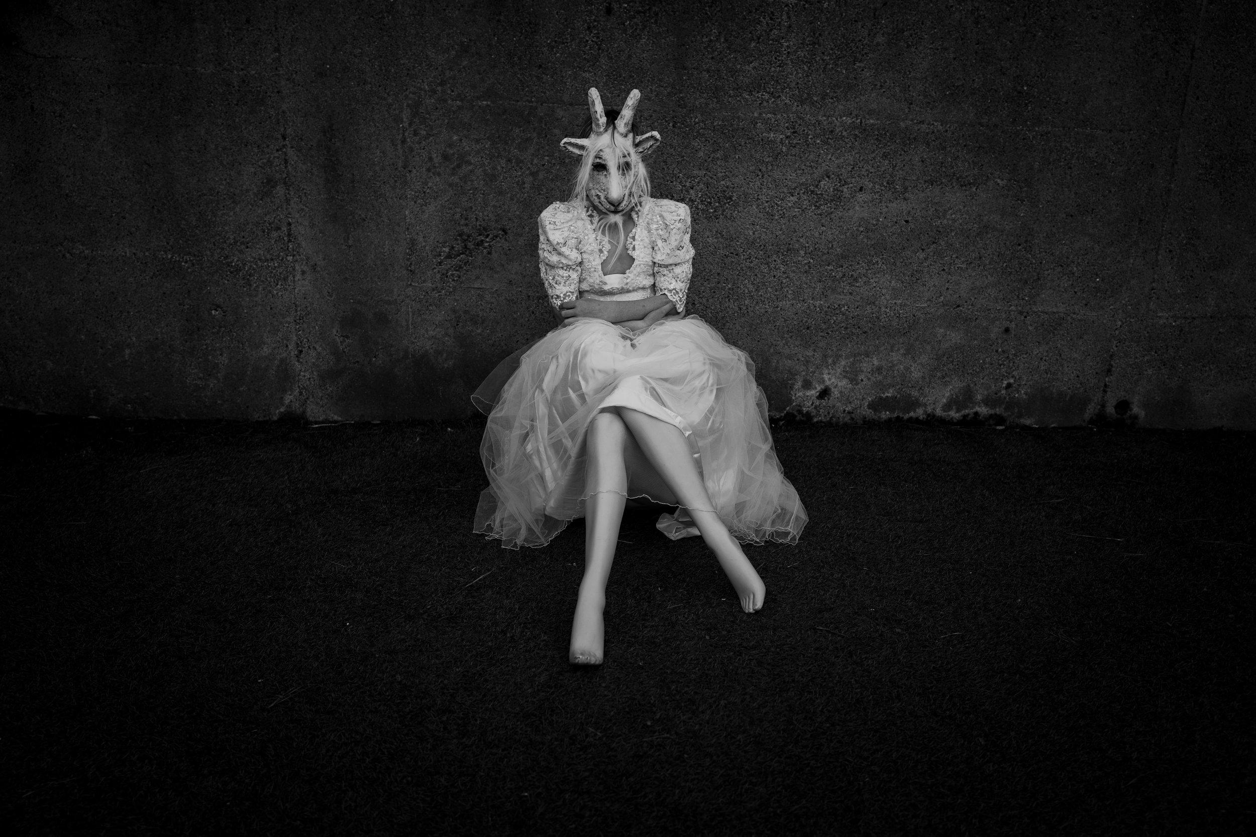 Lara Gilks,  Long legs , from the series  My Backyard theatre , 2018