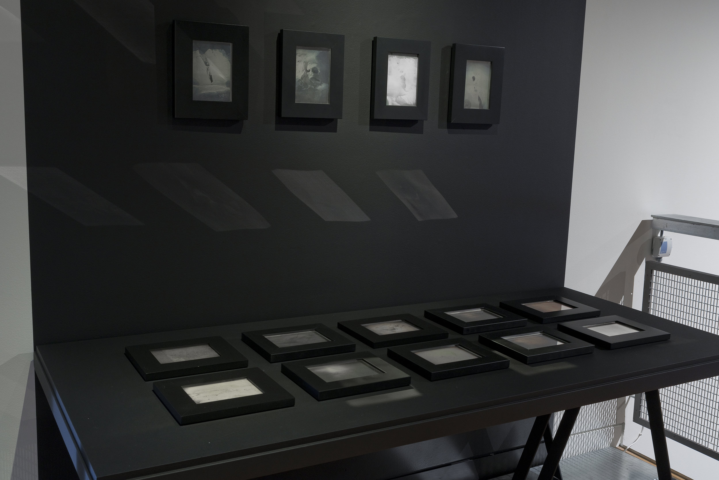 Joyce Campbell,  Last Light Antarctica , 2006, Becquerel daguerreotypes (installation view)