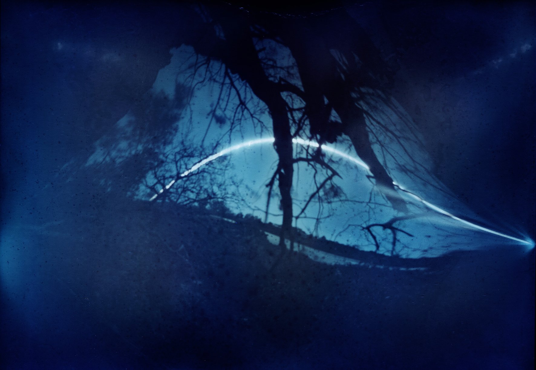 Lissa Knight   3 week pinhole solargraph of Whau River from Ken Maunder Park  from the Whau Solar Workshop
