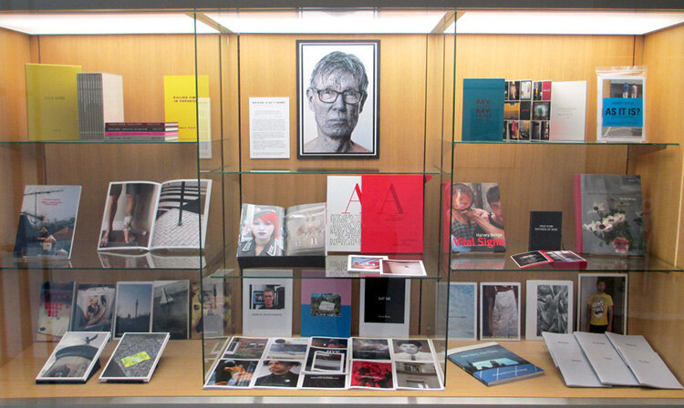 Installation view of  Nothing Is As It Seems: Harvey Benge Photobooks  at Auckland Art Gallery, 17 Apr 2015 - 13 Aug 2015