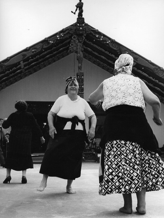 Ans Westra, 1963,  Coronation celebrations, Turangawewae, Ngaruawahia , vintage silver gelatin print, 288 x 221 mm