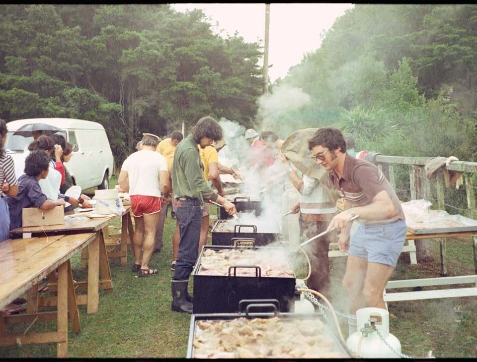 Totara Park , 1976. Westfield Freezing Company's annual picnic and sports day. Auckland Libraries Heritage Collections, NZMS 1803.