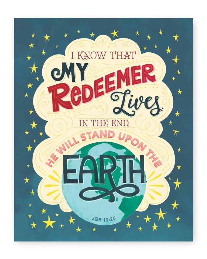 8x10 Digital Print My Redeemer Lives