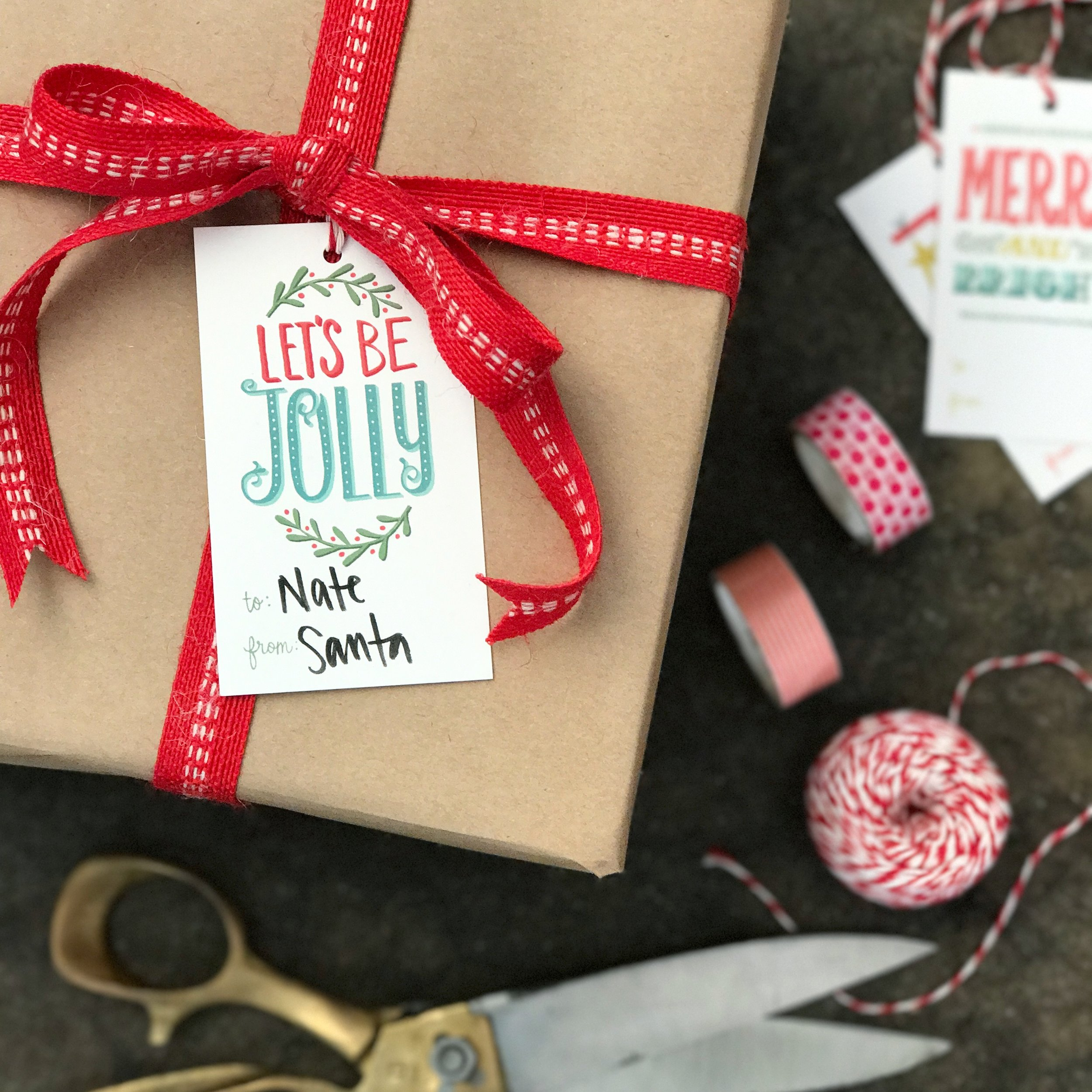 Let's Be Jolly Gift Tag   Home Again Creative