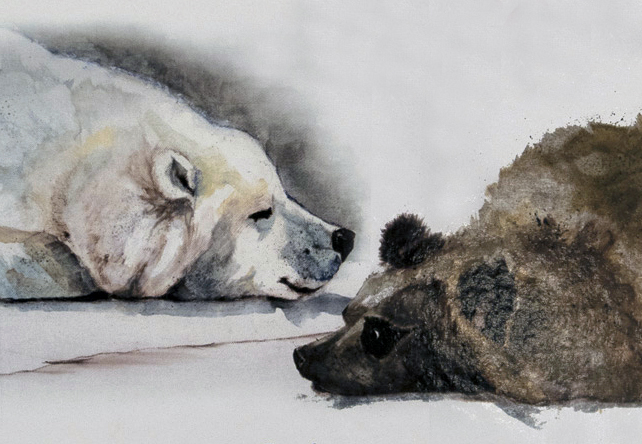 """Two Bears There"" Children's Book Illustrations by Dianne Barske"